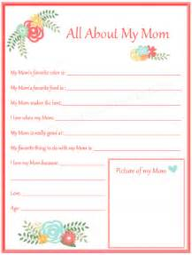 all about my mom mother s day printable for kids the