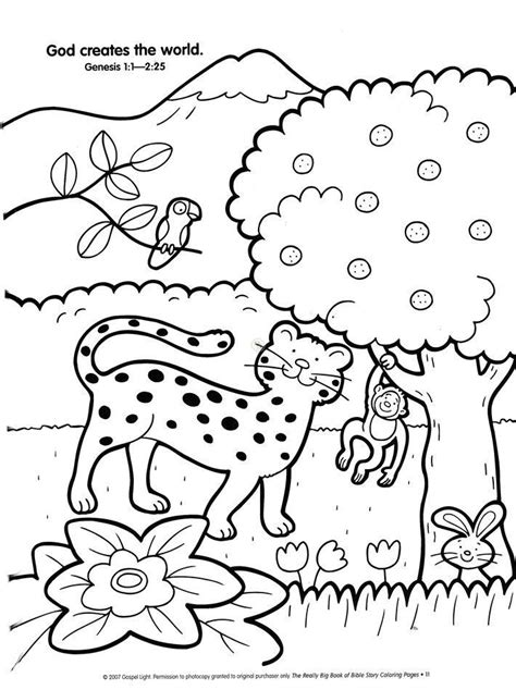 preschool creation coloring pages coloring home