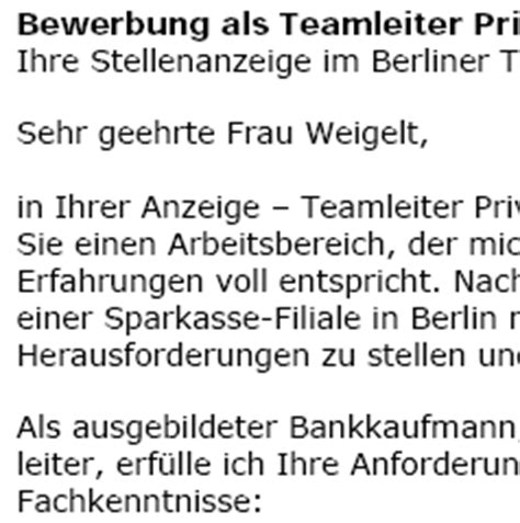 Deckblatt Bewerbung Teamleiter Bewerbung Teamleiter In Berufseinsteiger