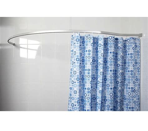 croydex curved shower curtain rail croydex curved to wall profile shower rail 1675 x 760mm