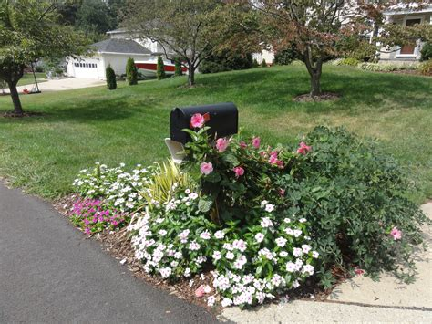 Ideas For Home Decorating decorating mailbox at foot of driveway garden makeover