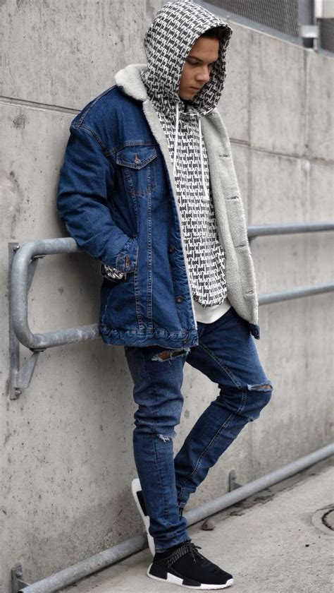 denimin trill wear denim jacket men streetwear fashion