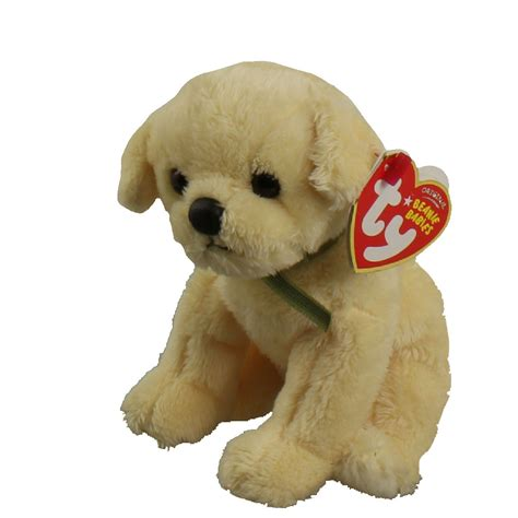 beanie baby puppy ty beanie babies bounds the gold 6 inch ebay