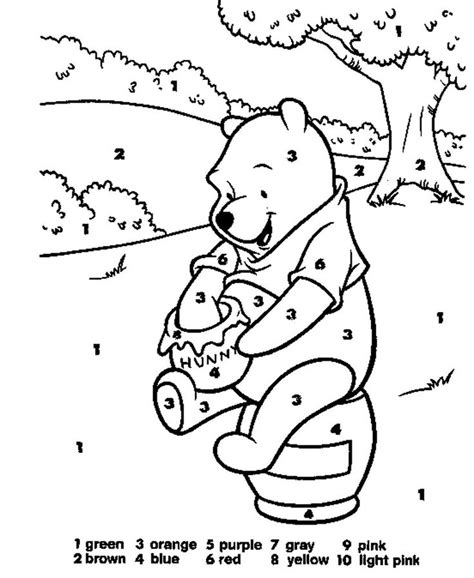 disney paint number coloring pages color number coloring pages color