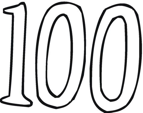 coloring page of the number 100 100th day coloring pages az coloring pages