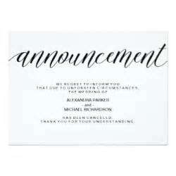 wedding cancellation cards simple wedding invitations announcements zazzle