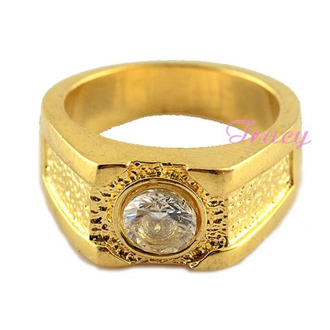 mens boys 10mm width exaggerated rings w 18k gold