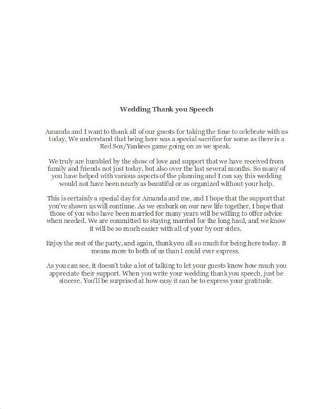 thank you letter to speech 7 thank you speech exles sles pdf doc