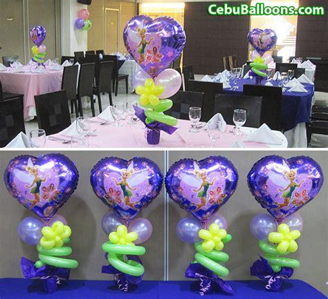 and friends centerpiece ideas tinkerbell centerpieces at hotel fortuna cebu balloons