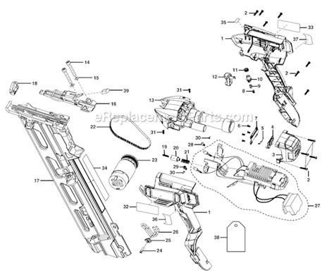 hitachi nail gun parts diagram ridgid r250af18 parts list and diagram ereplacementparts