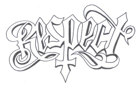 respect and loyalty tattoo designs respect ambigram design