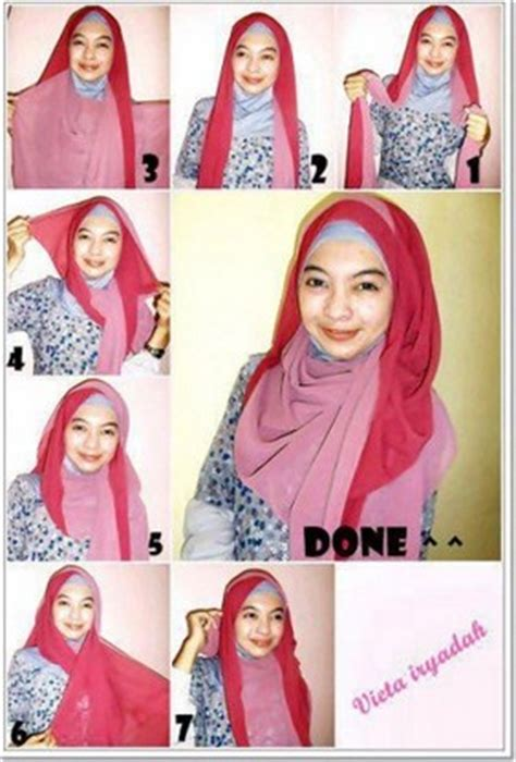 hijab tutorial pashmina for party 30 tutorial hijab pashmina paris dua warna dua kerudung