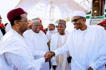photos president buhari arrives daura katsina state for