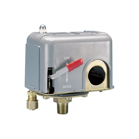 air pressure switch with on switch for single stage and dual stage air compressor 1 4in