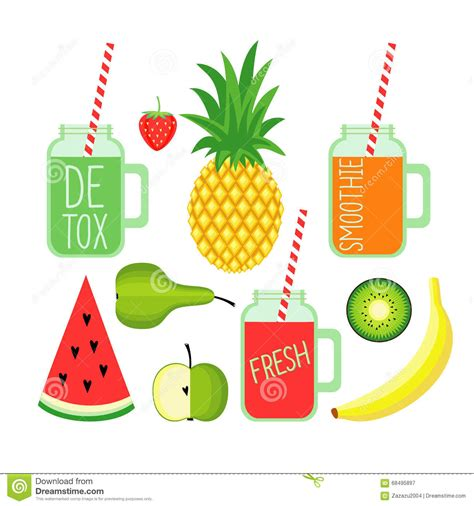 Hexagon Pineaple Apple Kiwi kiwi and apple fresh juice stock photo cartoondealer 70264854