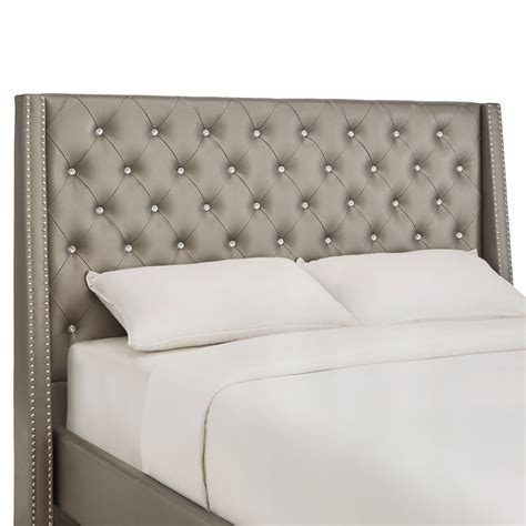 headboard with crystals sotello crystal tufted king headboard homehills king