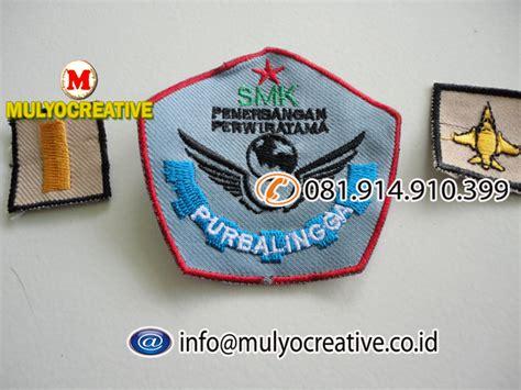 Bordir Nama Komputer bordir logo sekolah pesan name tag lencana pin plakat