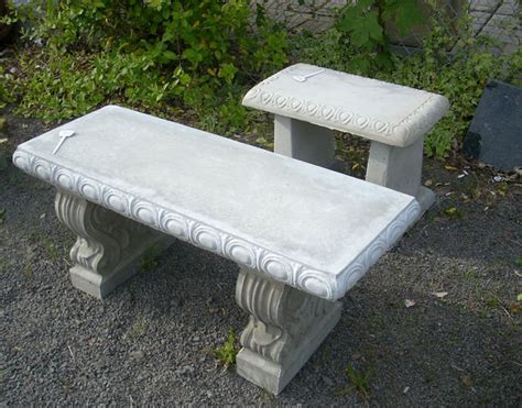 Garden Tables And Benches Concrete Decorative Bench Portland Garden Decor