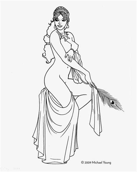 goddess hera coloring pages