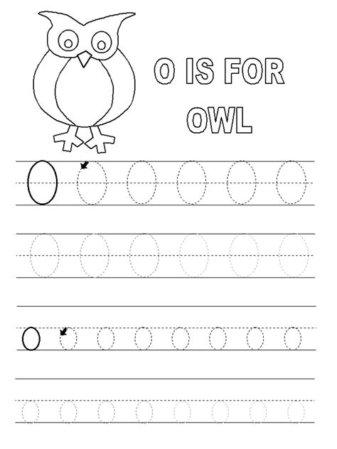 Printable Tracing Letter O | tracing letter o worksheets activity shelter