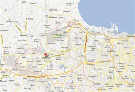 tangerang map  tangerang satellite image