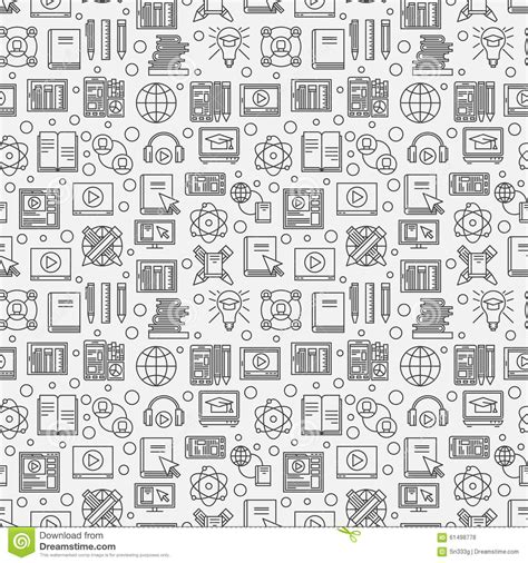 texture pattern learning online education seamless pattern stock vector image