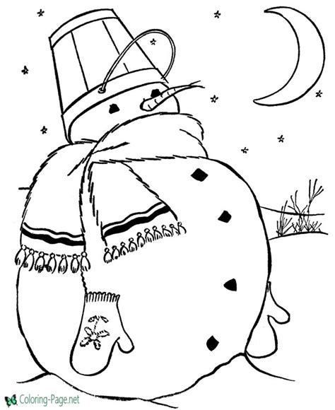 snowman scene coloring page snowman coloring pages to print and color