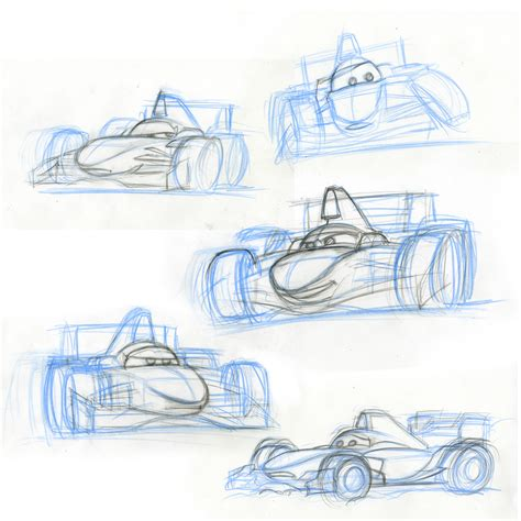 Cars 3 Sketches by Cars 2 Character Design Francesco Bernoulli