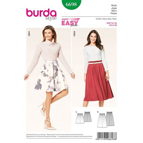 skirt pattern burda skirt sewing pattern burda n 176 6698 ma petite mercerie