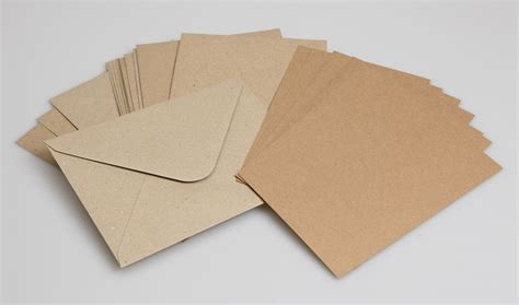 card envelope large kraft postcards 275gm with matching envelopes pack of 50