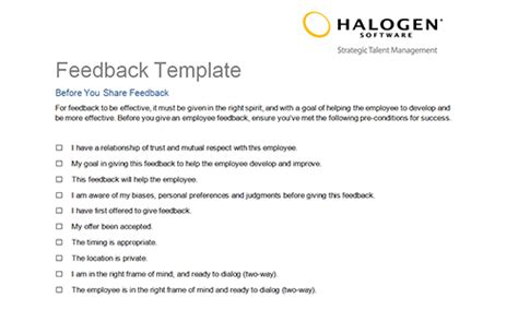 feedback request template employee feedback and coaching templates toolkit