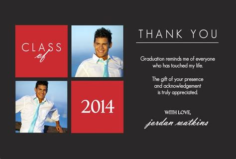 high school graduation thank you card templates graduation thank you card quotes quotesgram