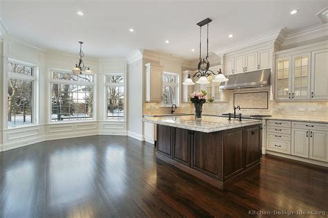 Pictures Of Kitchens Traditional Off White Antique White And Wood Kitchen Cabinets