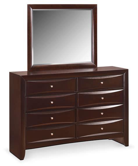 Braden Dresser And Mirror Merlot American Signature Bedroom Dresser And Mirror