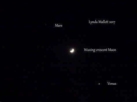 Mars Venus see it moon sweeps past venus and mars astronomy