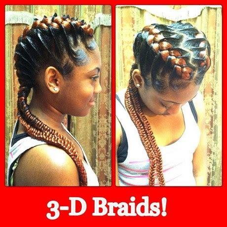 3 underbraids in a style 3 braids hairstyle