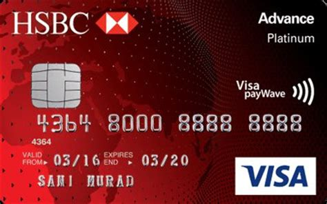 hsbc bank credit card hsbc advance visa platinum credit card review