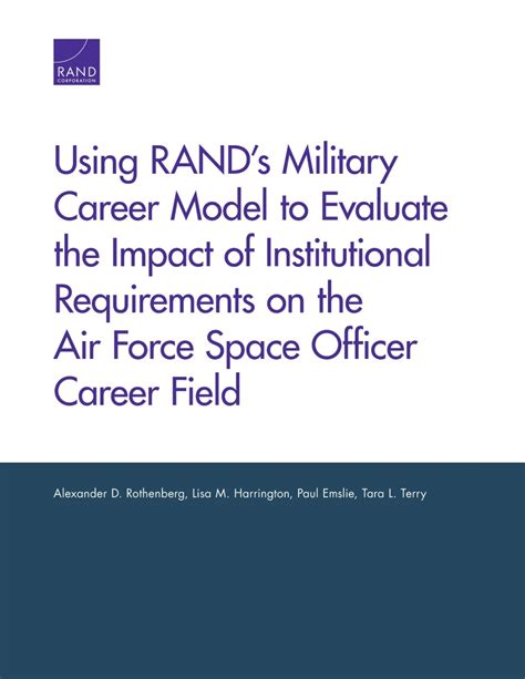 Air Officer Requirements by Using Rand S Career Model To Evaluate The Impact