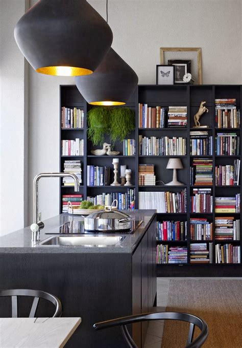 kitchen bookcase ideas decorating the kitchen with bookshelves