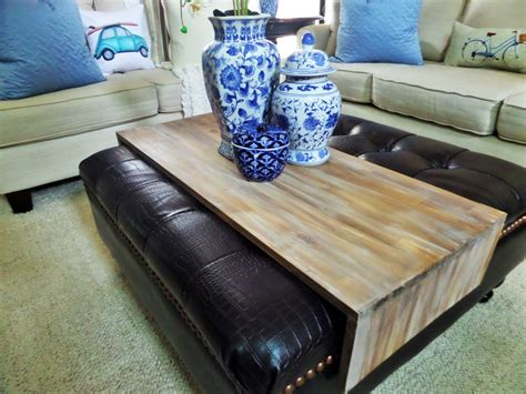 decorating an ottoman with tray diy wrap around ottoman tray be my guest with denise