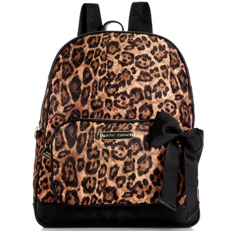 Betsey Johnson Quilted Backpack by Betsey Johnson Animal Quilted Backpack In Animal Lyst