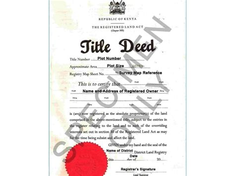 title deed free printable documents