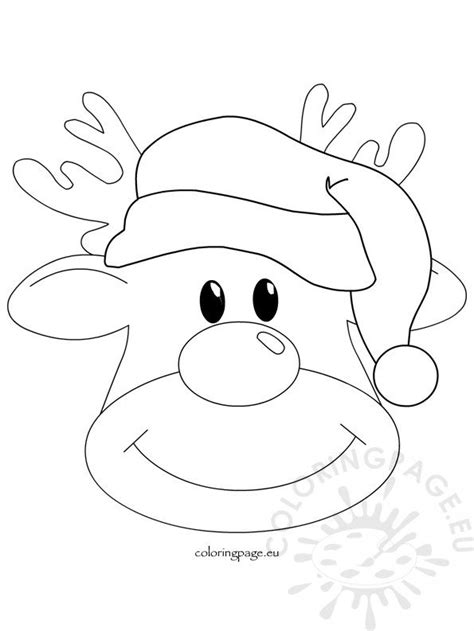 christmas reindeer rudolph  coloring page