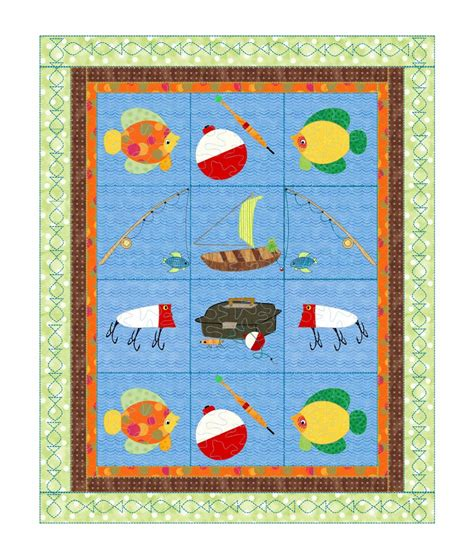 Boy Quilt Pattern by Baby Boys Quilt Pattern Boys Fishing Quot Go Fish