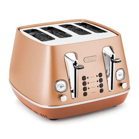 Copper Toaster Delonghi Distinta Copper 4 Slice Toaster S Of
