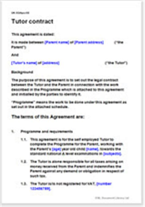 tutor contract template tutor contract template create your own agreement easily