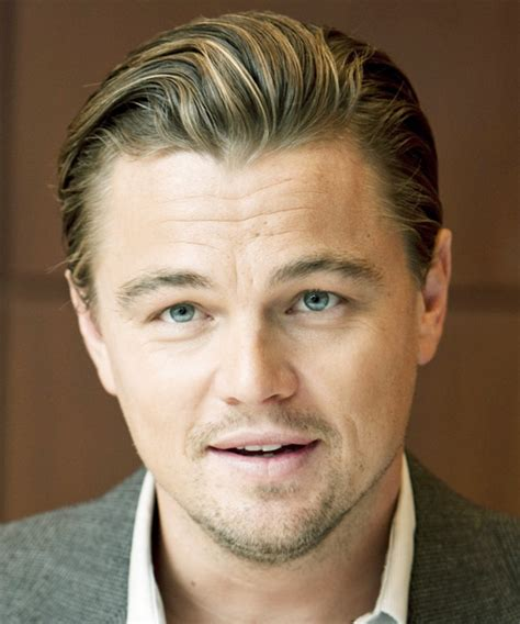 what is leonard dicaprio hairstyle called leonardo dicaprio short straight formal hairstyle dark
