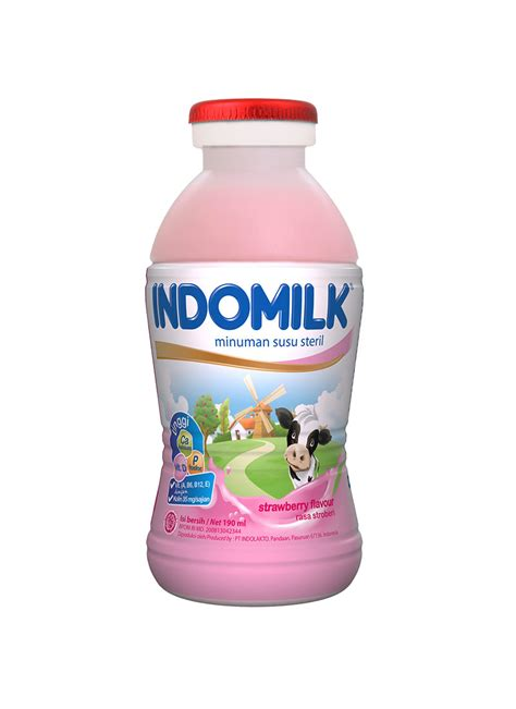 Indomilk Liquid Strawberry 190ml indomilk cair strawberry btl 190ml klikindomaret