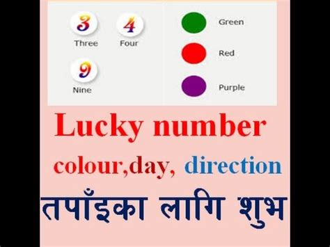 lucky color of the day rashifal lucky day lucky number lucky colour direction