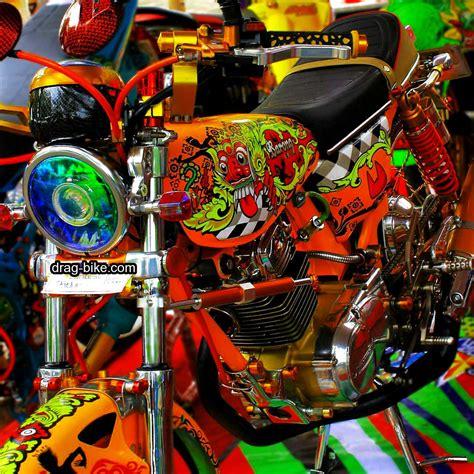 Modifikasi Motor Terbaik by 51 Foto Gambar Modifikasi Motor Cb 100 Terbaik Kontes Drag